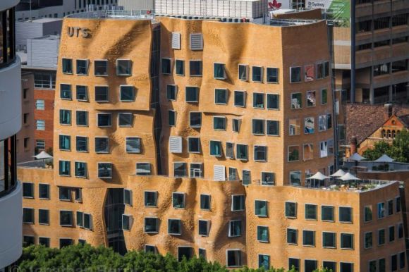 Gehry's brick building in Sydney